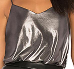 Free People, Foil Babes Bodysuit, $58