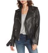 Sam Edelman, Contrast Trim Leather Moto Jacket – Nordstrom $378*