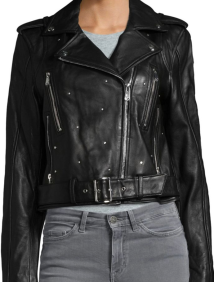 Sam Edelman, Studded Leather Moto Jacket $350