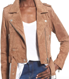 BLANKNYC, Morning Suede Moto Jacket $188