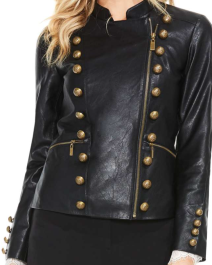 Vince Camuto, Faux Leather Military Jacket $229