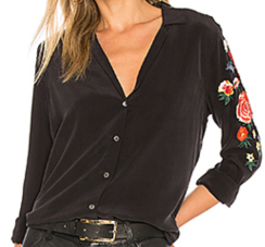 Equipment, Adalyn Embroidered Button Up $278
