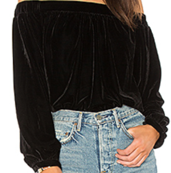 L'Academie, The Elastic Off Shoulder Top $128